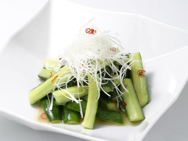 胡瓜とアンチョビの中華風