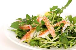 カニと水菜のサラダ