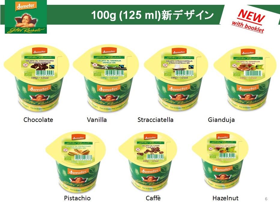 イタリアンジェラート新パッケージデザインの商品写真