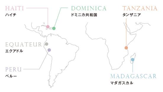 カカオ地図画像