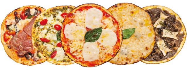 天然酵母有機食材使用ピザ5種類のイメージ写真