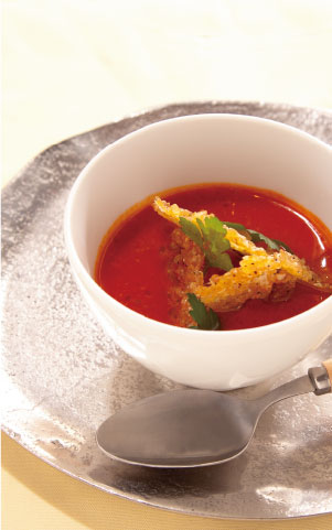 トマトスープ料理写真