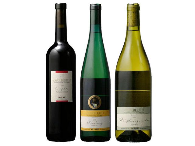 3本のビオワインが並んだ写真